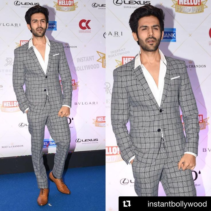 Last nyt at #HelloAwards @hellomagindia   #Repost @instantbollywood  The Latest Heartthrob Kartik Aaryan looking hot as hell ❤  Rate his look  1..  at Hello Hall of Fame Awards.  Styled by @khushikarwa54