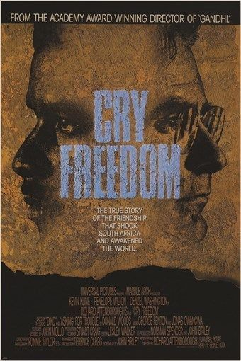 CRY FREEDOM rare movie poster RICHARD ATTENBOROUGH director HISTORIC 24X36