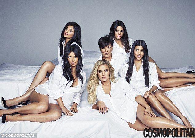 Looking good:Momager Kris Jenner, 59, Kim , Khloe and Kourtney Kardashian and their step-...