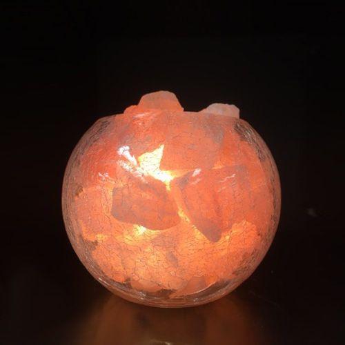 Glass Jar Lamp - Rose Bowl