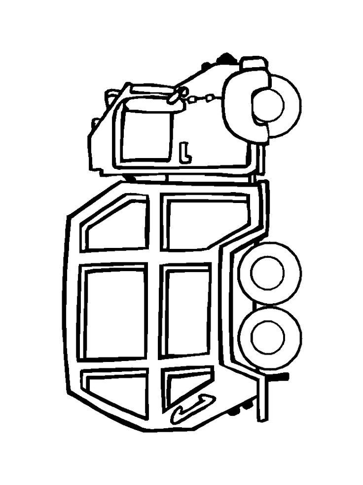 Garbage Truck Coloring Page printable