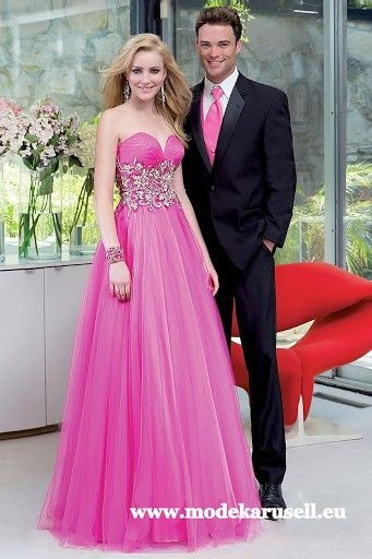 Abendkleid Online in Pink
