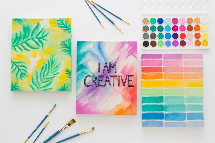 3 Ways to Make a New Notebook Pop With Watercolor | Brit + Co