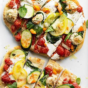 Easy pizzas loaded with veggies