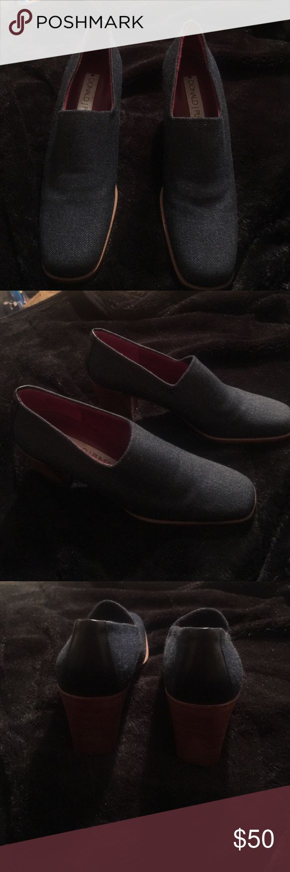"""🎉🎉🎉 Donald J. Pliner Denim shoes A beautiful pair of Donald J. Pliner made in Spain denim heels in excellent used condition. Sz 8N 3"""" H please ask all questions before buying no refunds Donald J. Pliner Shoes Heels"""
