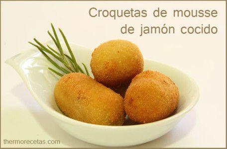 Croquetas de mousse de jamón cocido Thermomix
