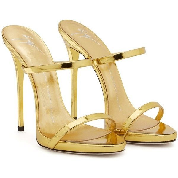Darsey by Giuseppe Zanotti at ORCHARD MILE ($487) ❤ liked on Polyvore featuring shoes, sandals, gold sandals, high heels sandals, high heel platform sandals, slip on sandals and gold high heel sandals