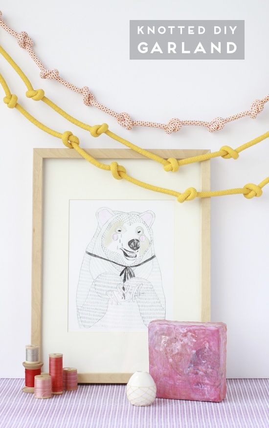 knotted rope garland