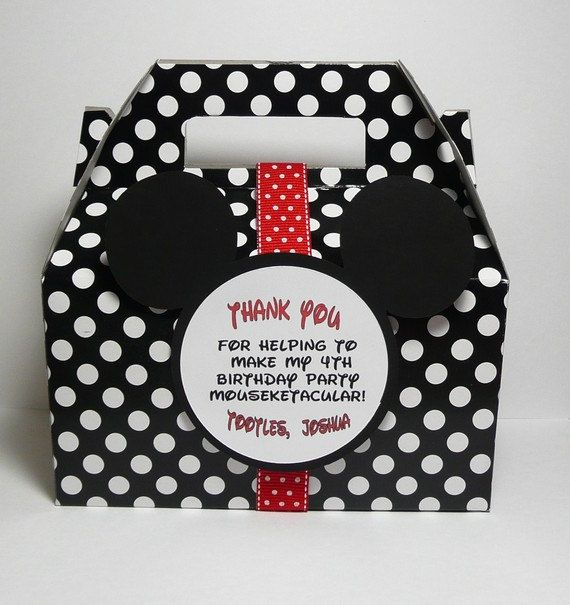Mickey Mouse Party Favor Box  Set of 15 by PocketFullofGlitter, $28.50