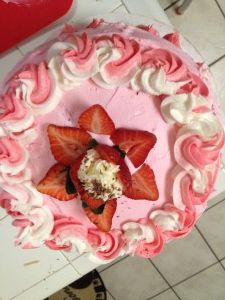 With Mothers Day upon us I thought I would share my recipe for Strawberry Cake.  This cake is not only delish, but a real show stopper.  I have never found a similar recipe anywhere!  This cake became an overnight sensation at my restaurant in Fort Smith, Arkansas.  www.homestylegourmet.net