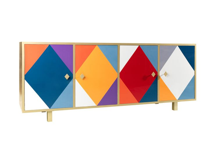 #pantalone sideboard, design by @Moschino for #altreforme, #arlecchino collection #interior #home #decor #homedecor #furniture #aluminium