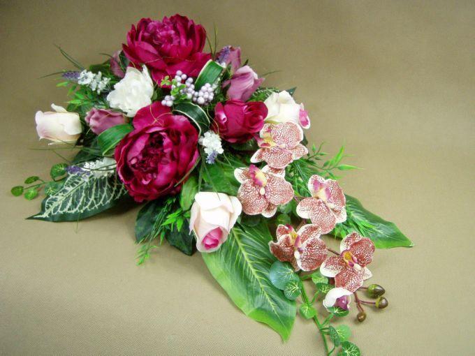 PIWONIE róże STORCZYKI (2858 A) misa piwonia Kompozycje kwiatowe Marko604
