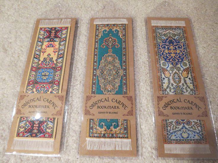From left to right here are the Balouchi (Pakistan, circa 1805), Agra (India, circa 1735) and Karaja (Persia, circa 1690) bookmarks.