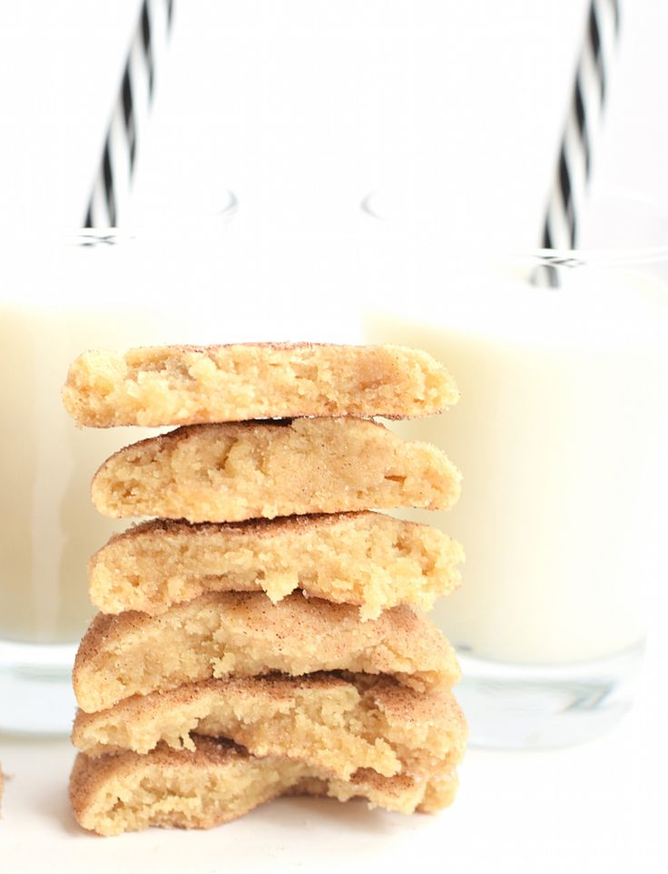 The Best No-Butter Snickerdoodle Cookies: sink your teeth into these super soft, gooey, thick cookies made in minutes with coconut oil! Addictive!   TrufflesandTrends.com