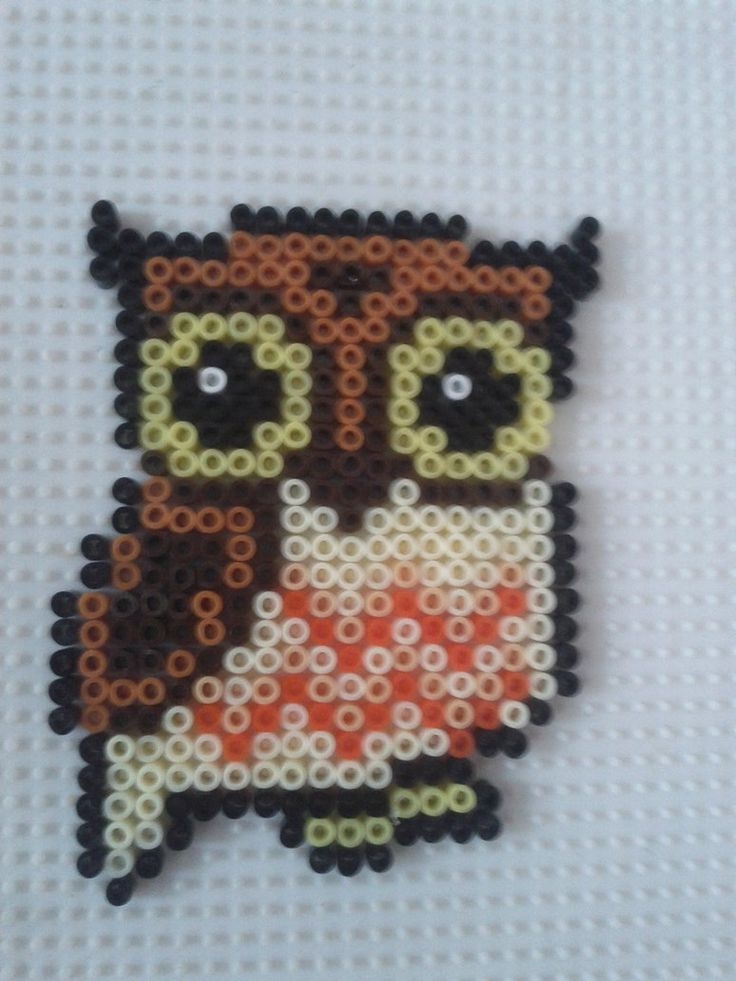 Hama beads owl by a-mah
