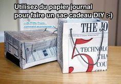 Comment Faire un Sac Cadeau Original En Papier Journal.
