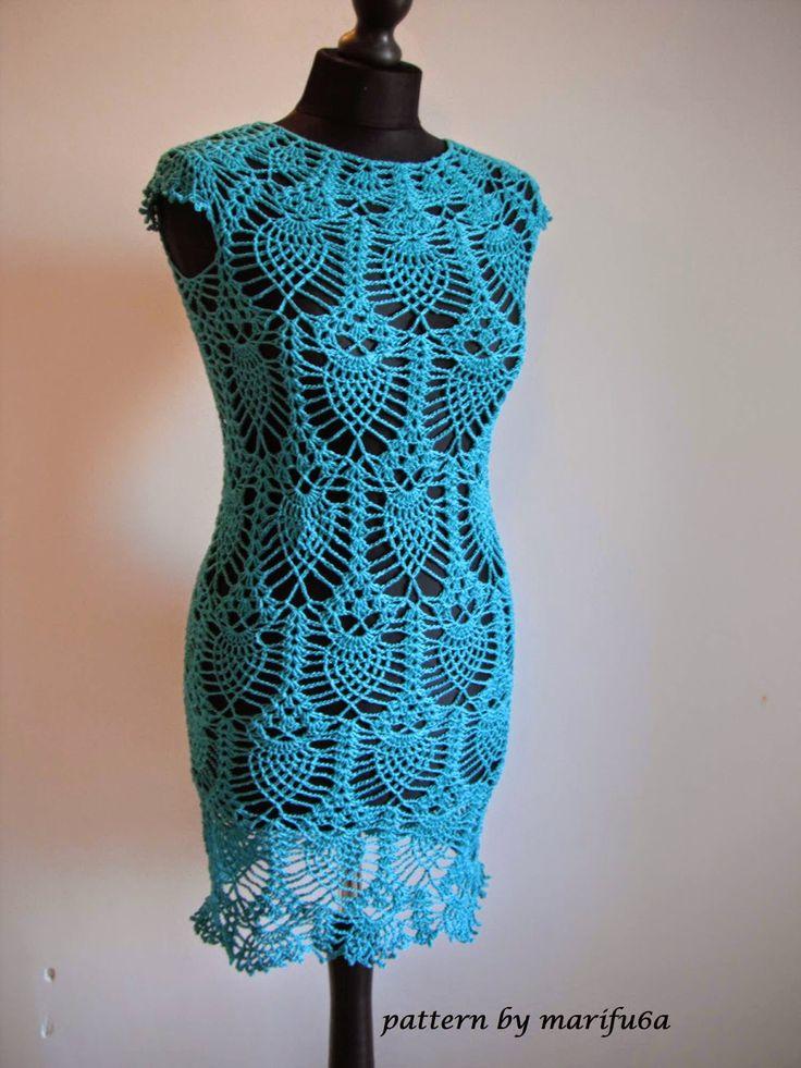 63 besten Dresses Bilder auf Pinterest | Häkelkleider, Kleidung ...