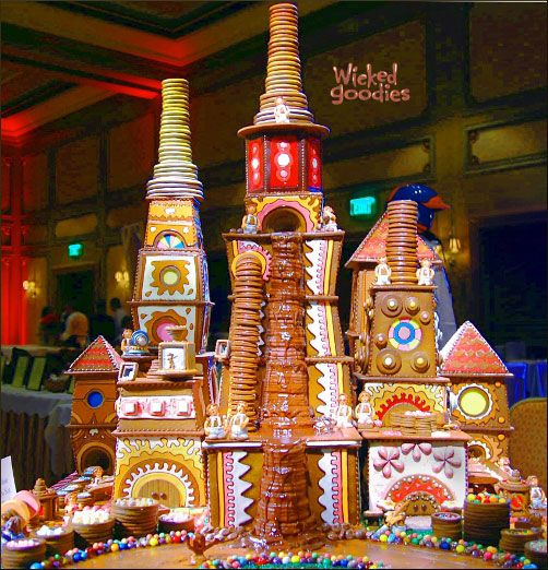 Willy Wonka's Chocolate Factory Gingerbread House - could make a great contributing activity.
