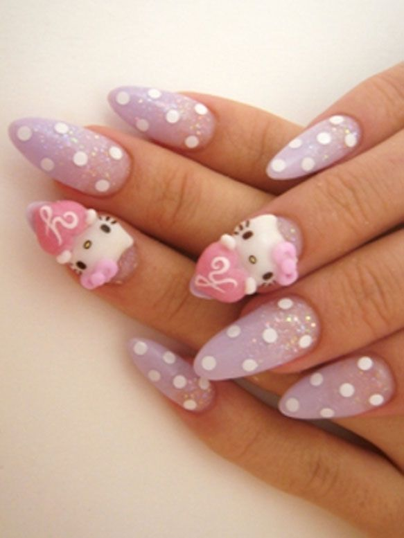 hello kitty nail art trend ideas 2012 - Nail Design Ideas 2012