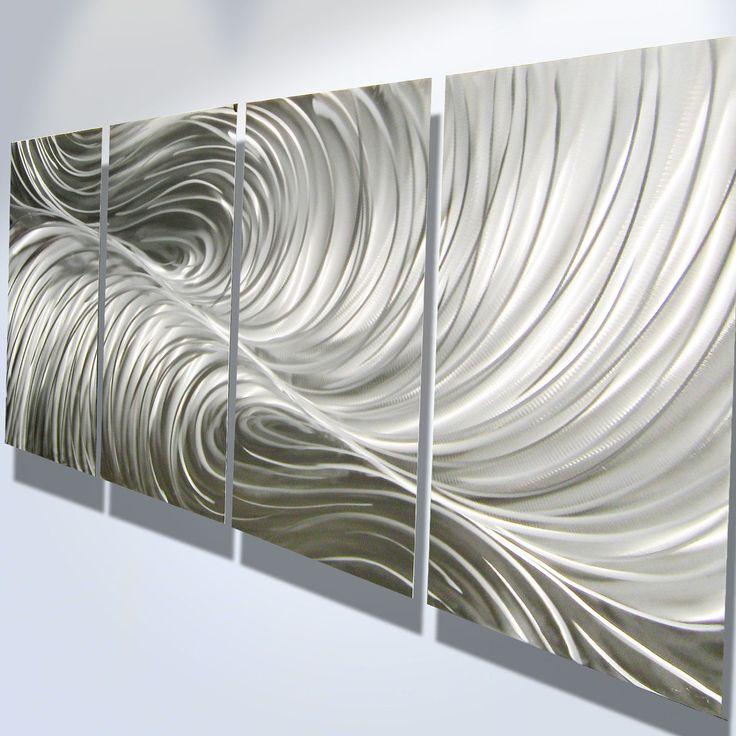 $100 (North Wall, Bullpen, right side) Metal Wall Art Decor Abstract Contemporary Modern Sculpture Hanging Zen Textured - Echo. $100.00, via Etsy.