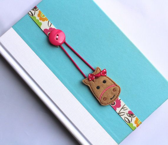 Elastic Ribbon Bookmark, Erin Condren Planner, Girls Bookmark, Horse Bookmark, Place Holder, Filofax, Bible, Book, Planner, Favor ebmhorse10