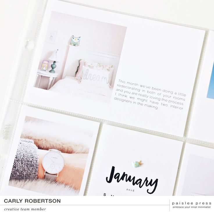 Happy 2016 everyone! It's Carly here today to share a little peek into my 2016 Project Life album. This year I decided I would continue on with my 12x12 album size and not change much up from how I...