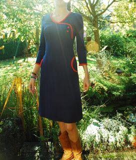 Retro jurk o.b.v. Burda 7828