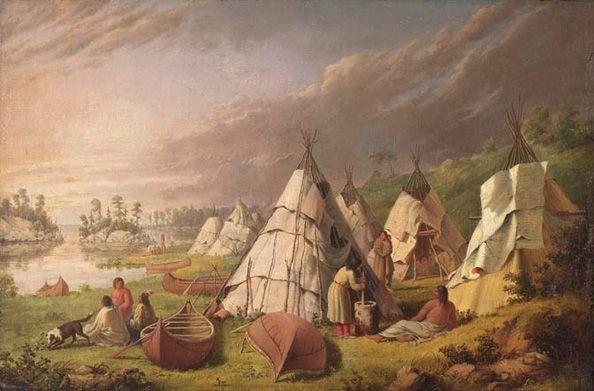 Indian Encampment on Lake Huron by Paul Kane