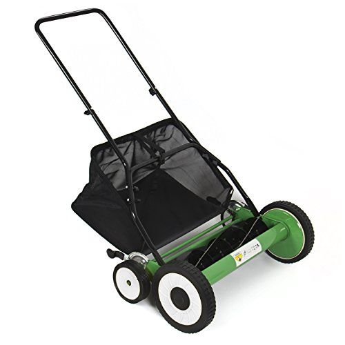 Best Choice Products® Lawn Mower 20″ Classic Hand Push Reel W/ Grass Catcher 6 Adjustable Height 20″