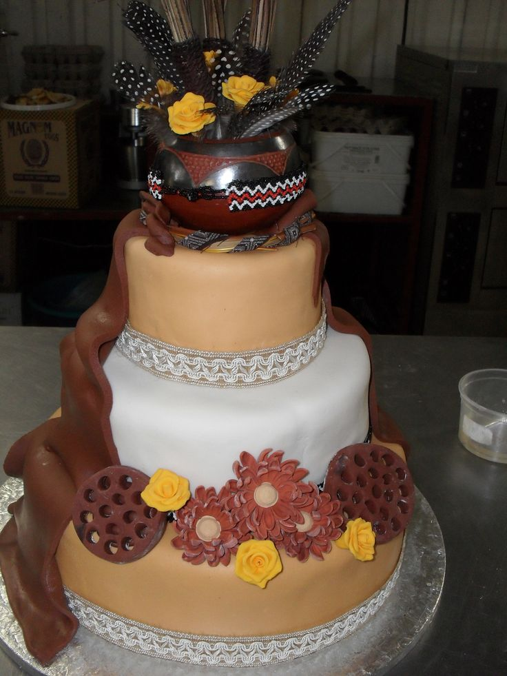 Beautiful African Wedding Cakes With African Traditional Wedding Cakes