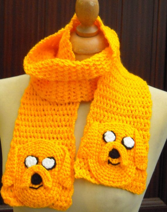 I totally want this...  Crochet Jake the Dog From Adventure Time Scarf  by twixtseaandpine, $24.00