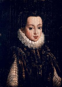 Isabel de Valois, pintada por Antonio Moro.