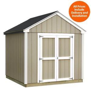 sheds usa installed valu plus 8 ft x 10 ft smart siding shed