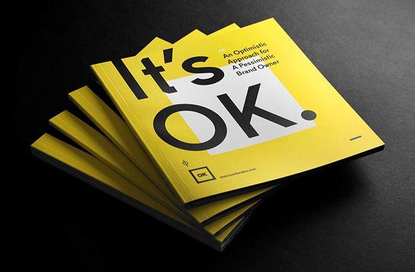 It's OK | Branding Booklet on Behance