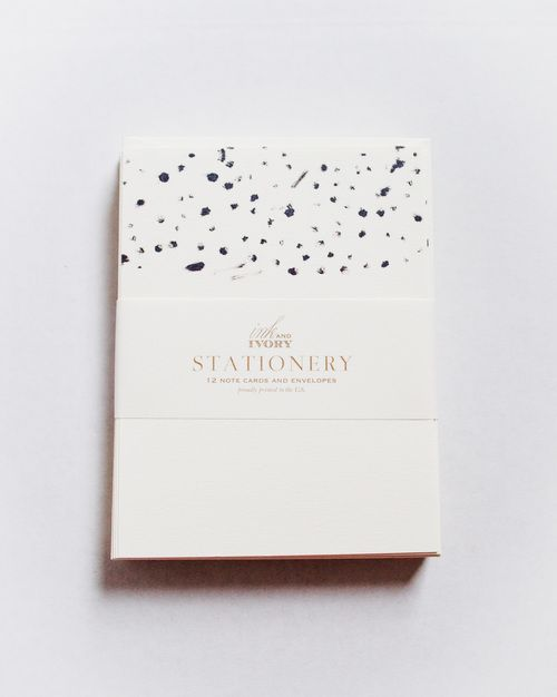 Black Dot Stationery by Ink & Ivory   www.inkandivory.com