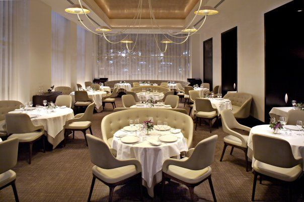 Trump International Hotel Tower's Five-Star restaurant, Jean-Georges, features contemporary international cuisine. Chef Jean-Georges Vongerichten has garnered four stars from the New York Times, three stars from the Michelin guide and AAA's Five Diamond awards. For casual dining, there's modern sophisticated Nougatine restaurant, also by Jean-Georges. Guests can enjoy outdoor dining New York style on Jean George's Central Park-facing Mistral Terrace. #worldsbesthotels2014