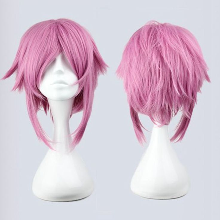 40cm Hot Synthetic Short Pink  Wig Cosplay Sexy Cute Short Haircuts Pictures Short Haircuts Best Natural Looking Wigs Party