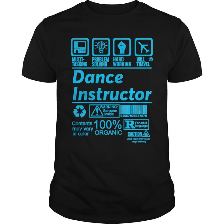 DANCE INSTRUCTOR. Funny, Cute, Clever Dance, Dancing Quotes, Sayings, T-Shirts, Hoodies, Tees, Coffee Mugs, Clothes, Gifts. #dance