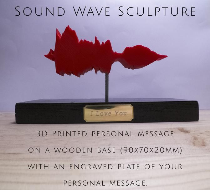 3D Printed Sound Wave Sculpture by Cancore 3D Printing #3dprinting