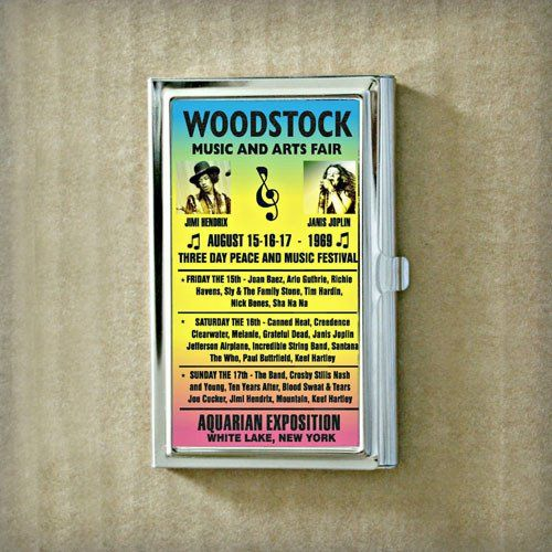 Woodstock Band Poster Business Card Case