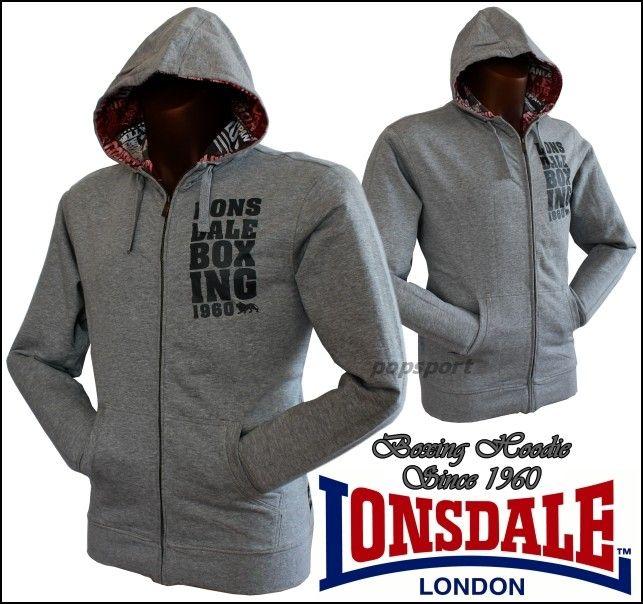 Mikina LONSDALE Boxing 1960 zip grey
