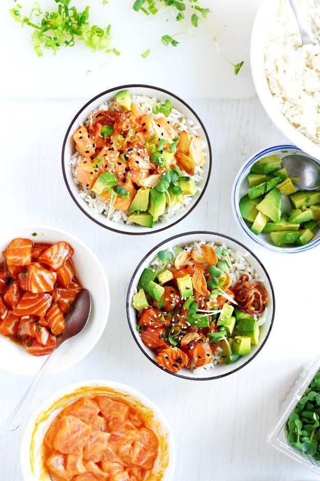 Salmon poke bowls. Tutorial how to make a poke bowl at home  » Little Vienna