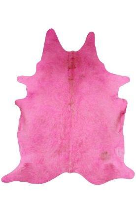 Rugs USA Natural Solid Cowhide Pink Rug