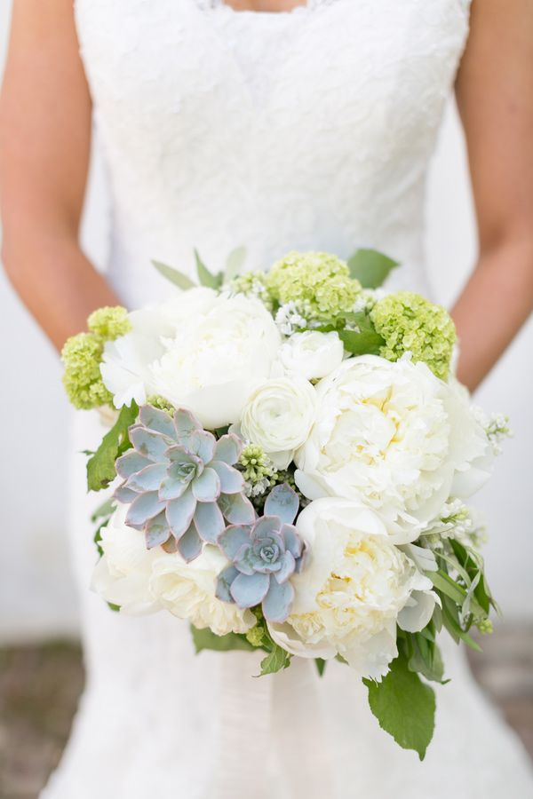 wedding bouquet with succulents // photo by Chris + Jenn Photography // styling by Styling Starts Here // view more: http://ruffledblog.com/romantic-agoura-hills-wedding
