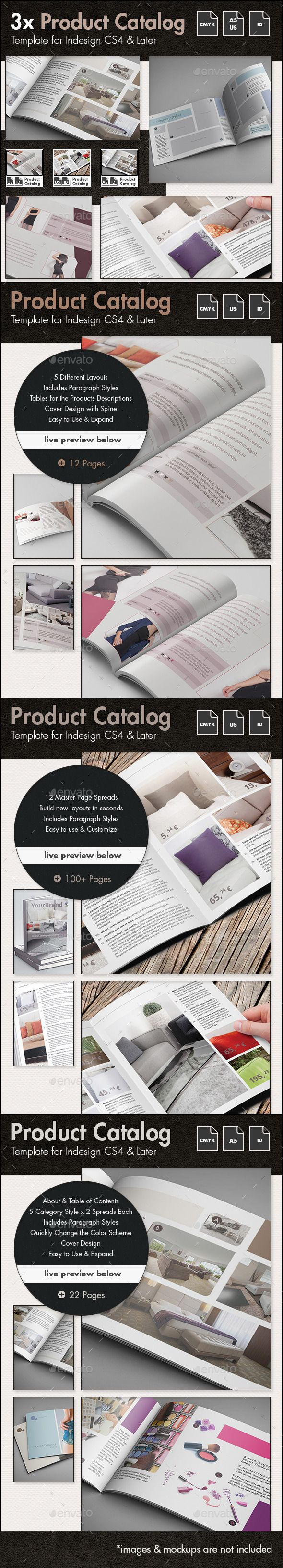 Product Catalog Template Bundle - US Letter and A5