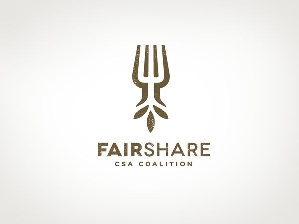 Logo - FairShare CSA Coalition by Darren Halbersma, via Behance