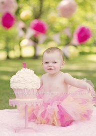 smash cake photography outside - Google Search