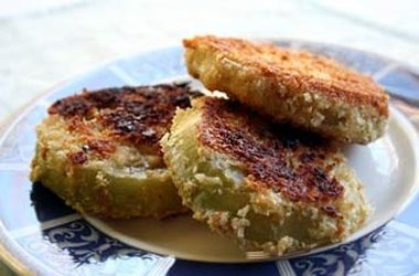 Fried Green Tomatoes — PunchforkAmerican Indian Food, Side Dishes, Tomatoes Recipe, Fries Green Tomatoes, American Dishes, Cherokee Food, Tomato Recipes, Fried Green Tomatoes, Native American