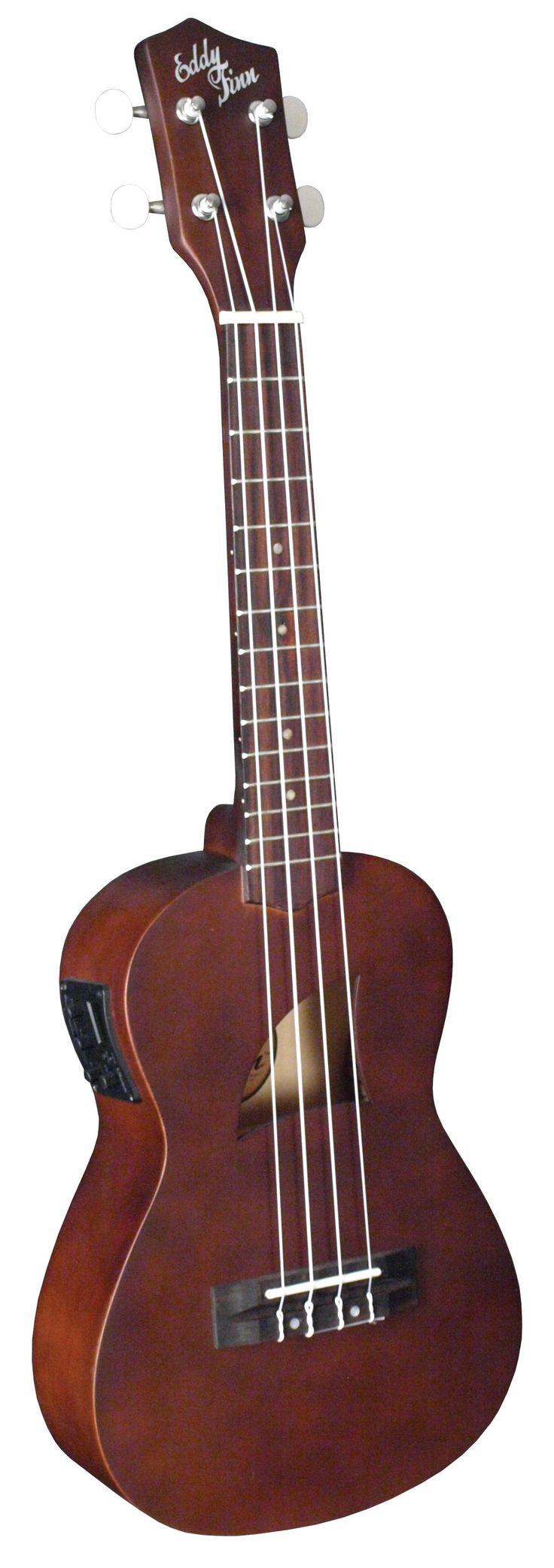 Eddy Finn® Basswood Series Acoustic/Electric Concert Ukulele with Aquila Strings