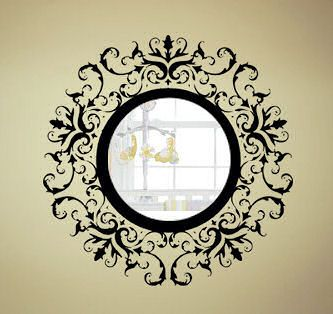 Vinyl Wall Decal With A Round Mirror. Simple And Cheap. Part 98